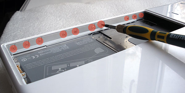 Как разобрать MacBook white